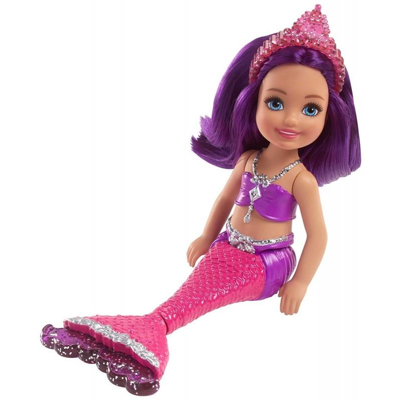 Γοργόνα Barbie Dreamtopia με μοβ μαλλιά  207639