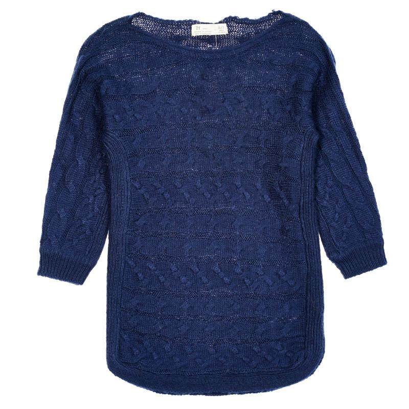 Πλεκτό πουλόβερ, σκούρο μπλε  208543