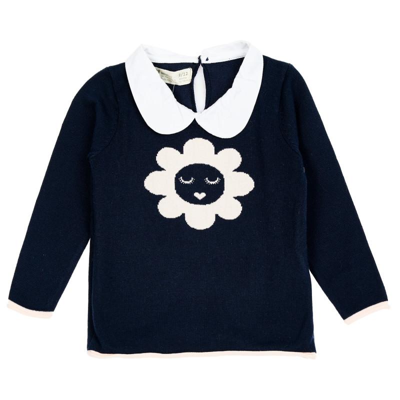 Βαμβακερό πουλόβερ με γιακά για μωρά  208939