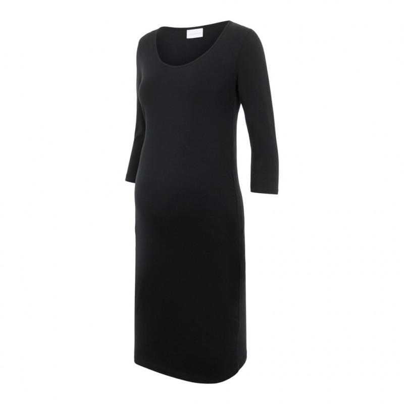 Φόρεμα με 7/8 μανίκια για έγκυες γυναίκες, μαύρο  209477