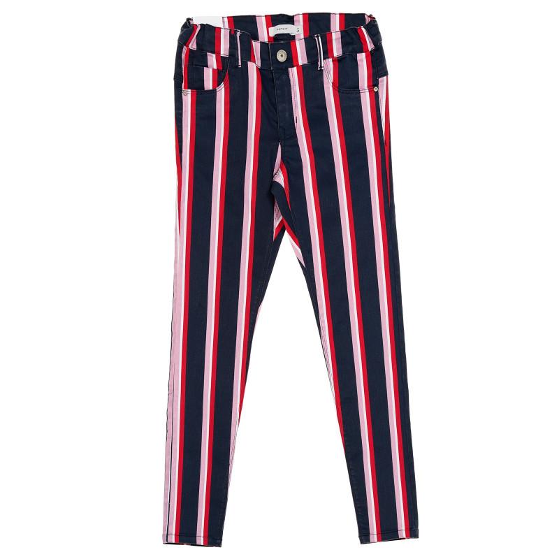Παντελόνι με πολύχρωμες ρίγες  216742