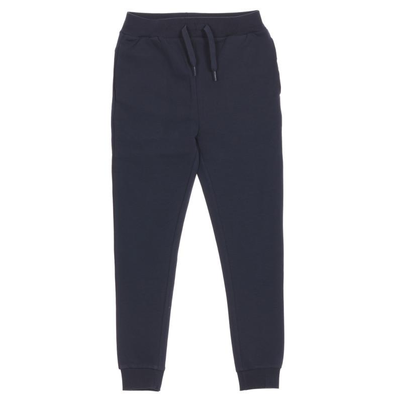 Παντελόνι από οργανικό βαμβάκι σε μπλε χρώμα  219610