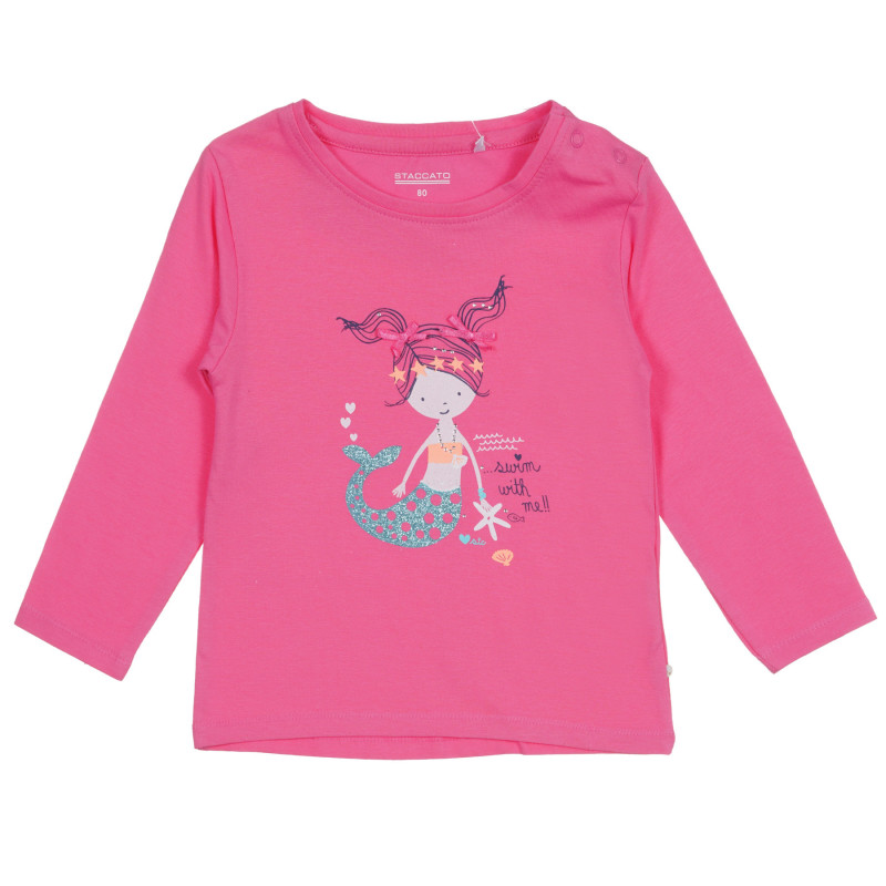 Μπλούζα μακρυμάνικη, ροζ  222152