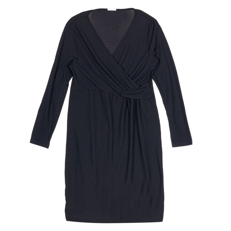 Μακρυμάνικο φόρεμα για έγκυες και θηλάζουσες γυναίκες, μαύρο  222184