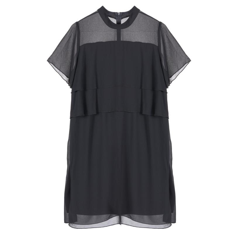 Μαύρο κοντομάνικο φόρεμα για έγκυες γυναίκες  222188