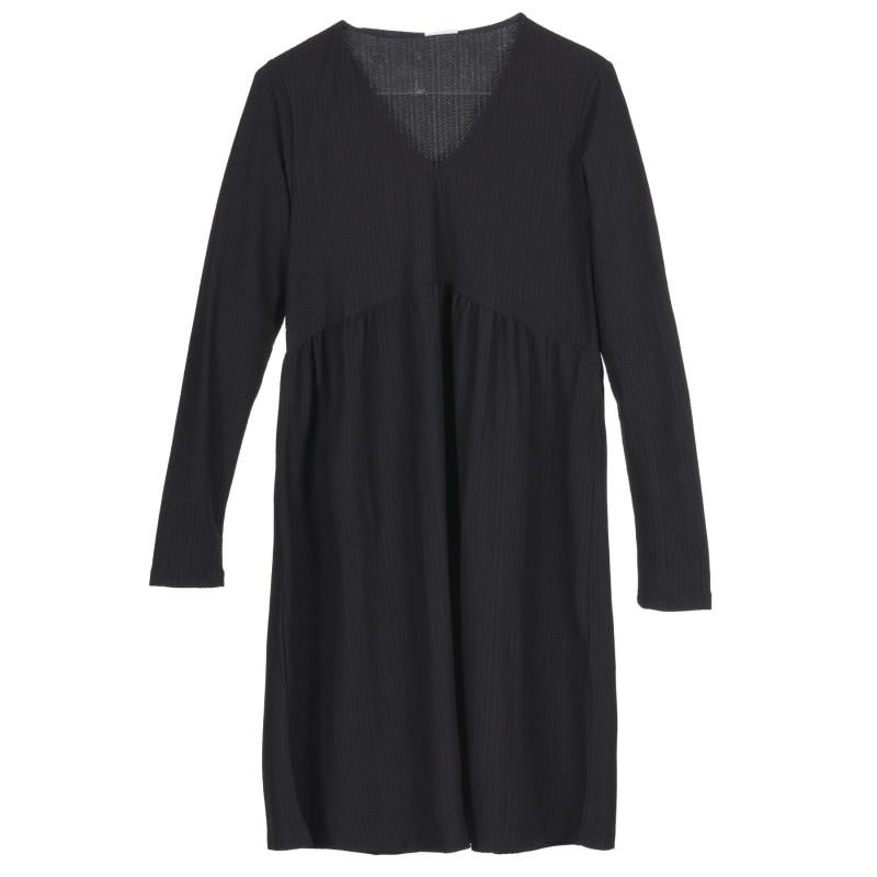 Μακρυμάνικο φόρεμα για έγκυες γυναίκες, μαύρο  222192