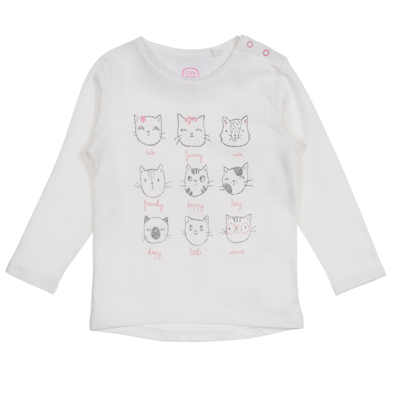 Μπεζ μπλούζα με διασκεδαστική εκτύπωση για ένα μωρό  222223