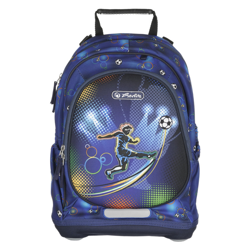 Μπλε σακίδιο με σχέδιο ποδοσφαιριστή, για αγόρι  224103