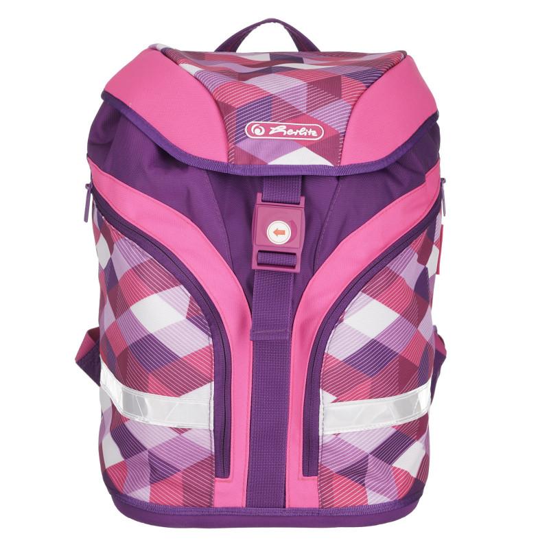 Ροζ και μοβ σακίδιο με τσάντα και μολύβι, για κορίτσι  224109