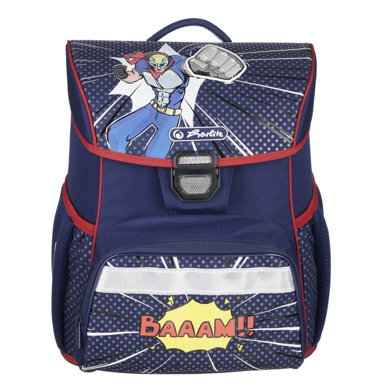 Μπλε σακίδιο με τσάντα και δύο μολύβια, για αγόρι  224137