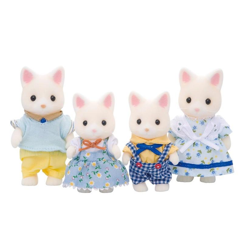 Σετ φιγούρες Sylvanian Families - οικογένεια γατάκια, Silk, 4 μέρη  229422