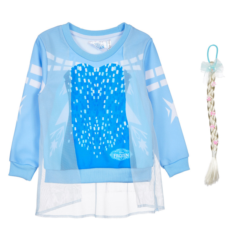 Φούτερ Frozen για κορίτσι, με δώρο πλεξούδα  235374