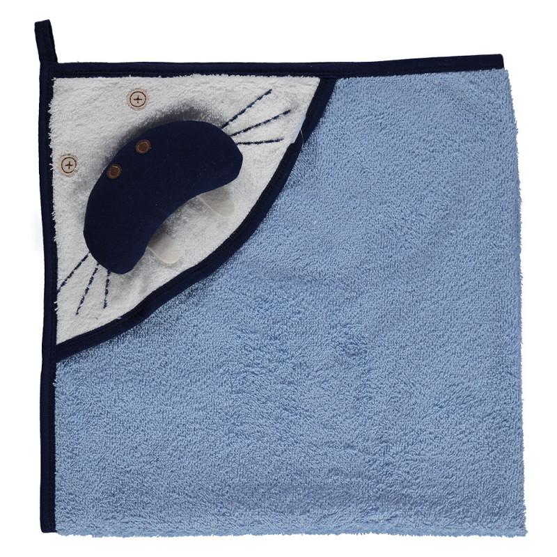 Βαμβακερή πετσέτε με κουκούλα και Baby Seal Design - unisex  2379