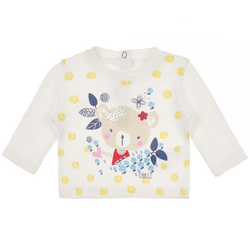 Μακρυμάνικη μπλούζα από βαμβάκι, Chicco με διασκεδαστικό σχέδιο    241454