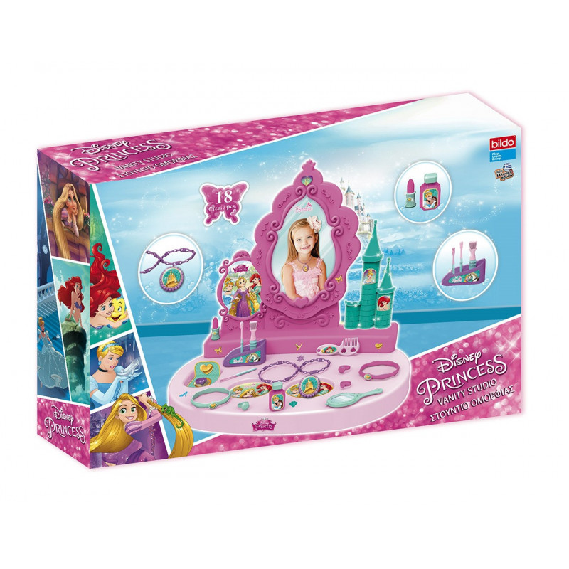Σετ μπουντουάρ με καθρέφτη και αξεσουάρ - για μικρές πριγκίπισσες  25505