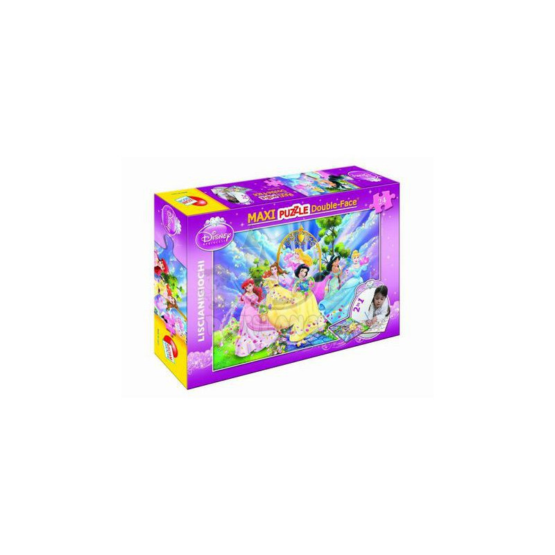 Maxi puzzle 2 σε 1 πριγκίπισσες της Disney με χρωματιστά στυλό, 60 κομμάτια  257340