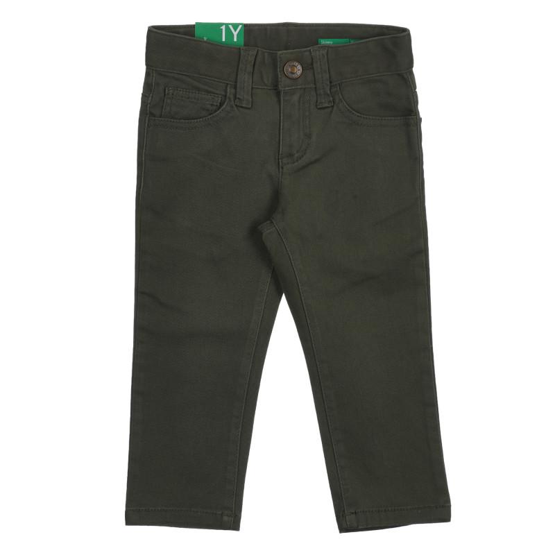 Βαμβακερό παντελόνι με το λογότυπο της μάρκας για μωρό, πράσινο  260732