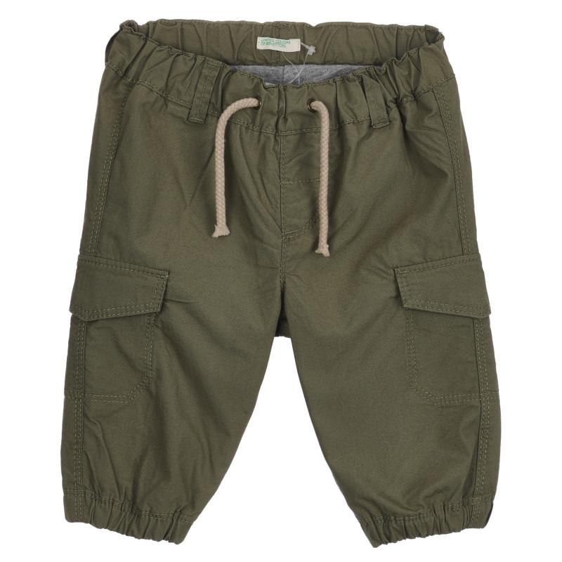 Βαμβακερό παντελόνι για μωρό, πράσινο  260740