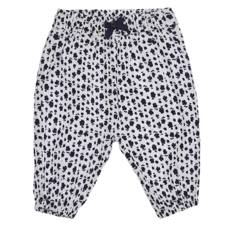 Παντελόνι με floral print για μωρό, λευκό  260772