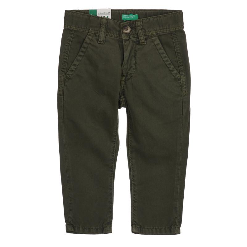 Βαμβακερό παντελόνι για μωρό, πράσινο  260823
