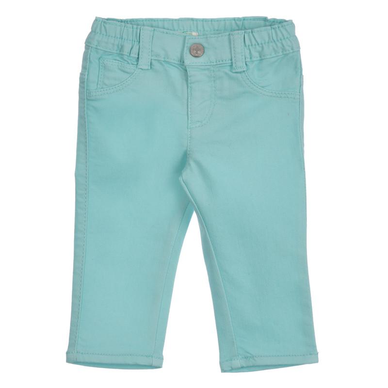 Βαμβακερό παντελόνι για μωρά, ανοιχτό μπλε  260843