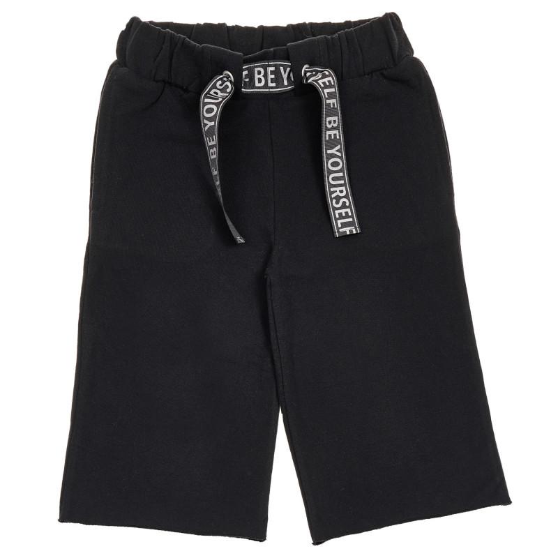 Βαμβακερό αθλητικό παντελόνι, μαύρο  260957