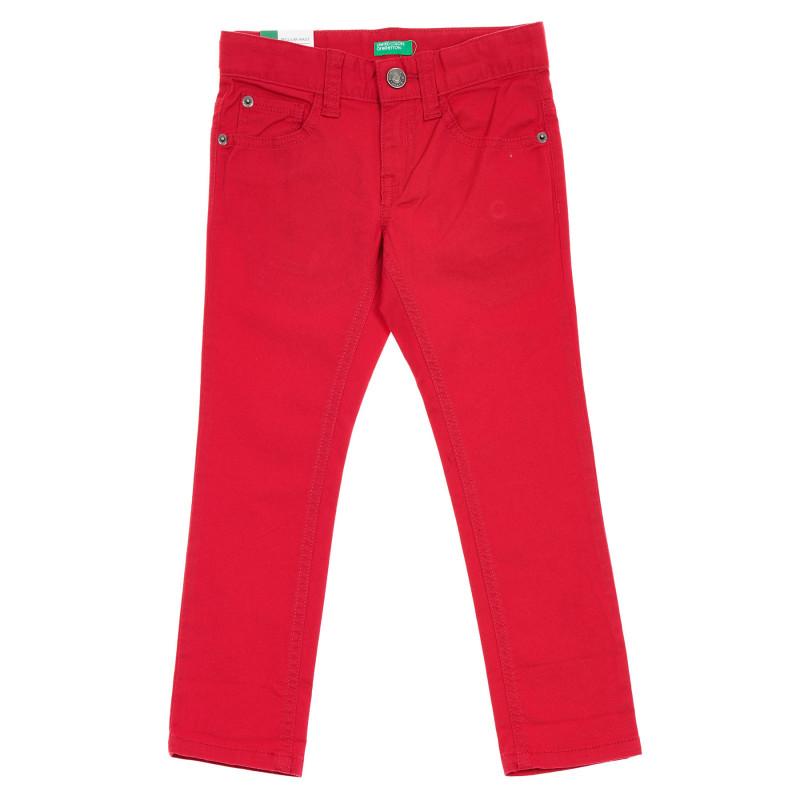 Βαμβακερό τζιν με το λογότυπο της μάρκας, κόκκινο  260976