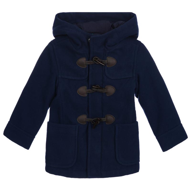 Παιδικό παλτό, μπλε ναυτικό  261030