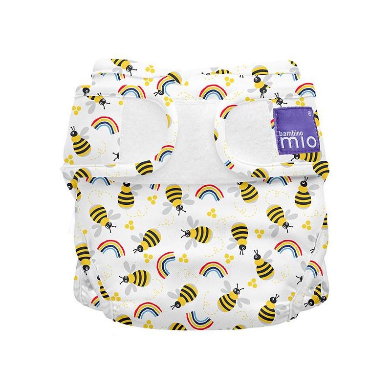 Επαναχρησιμοποιούμενη πάνα βρακάκι, μέλισσες, Μέγεθος: 1, έως 9 κιλά, 1 τεμάχιο  270018