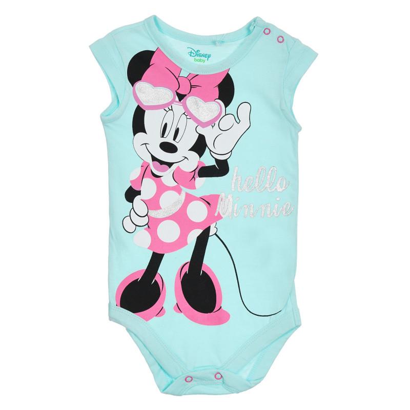 Κορμάκι με τύπωμα Minnie Mouse για μωρά, μπλε  270332