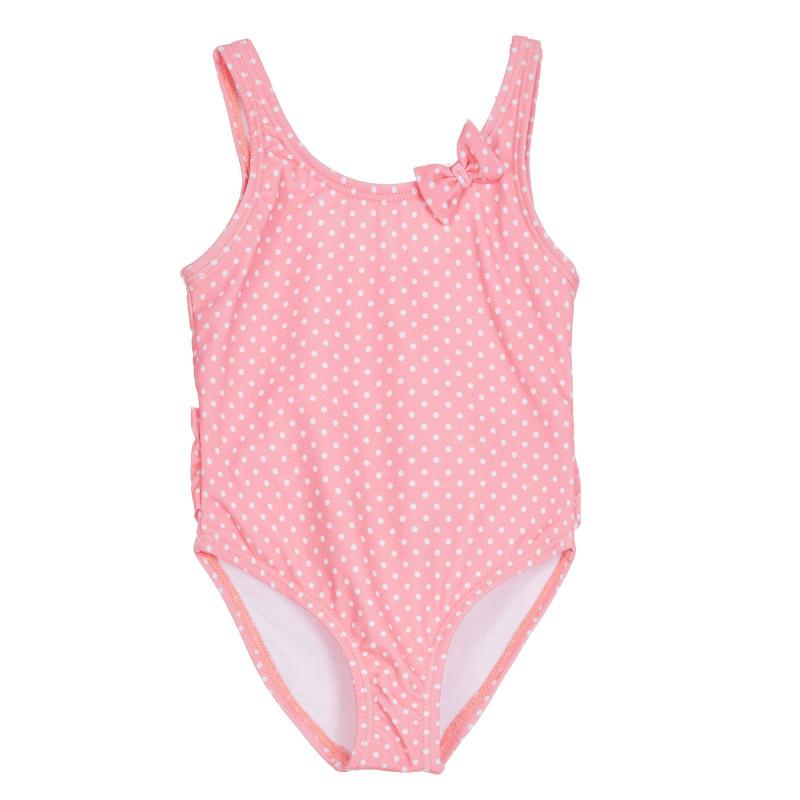Cool Club πουά μαγιό με κορδέλα φιόγκου, σε κοραλλί χρώμα για μωρά  270571