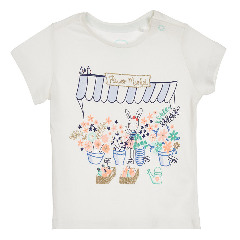 Cool Club βαμβακερό μπλουζάκι για μωρά με λουλουδάτο τύπωμα  270583