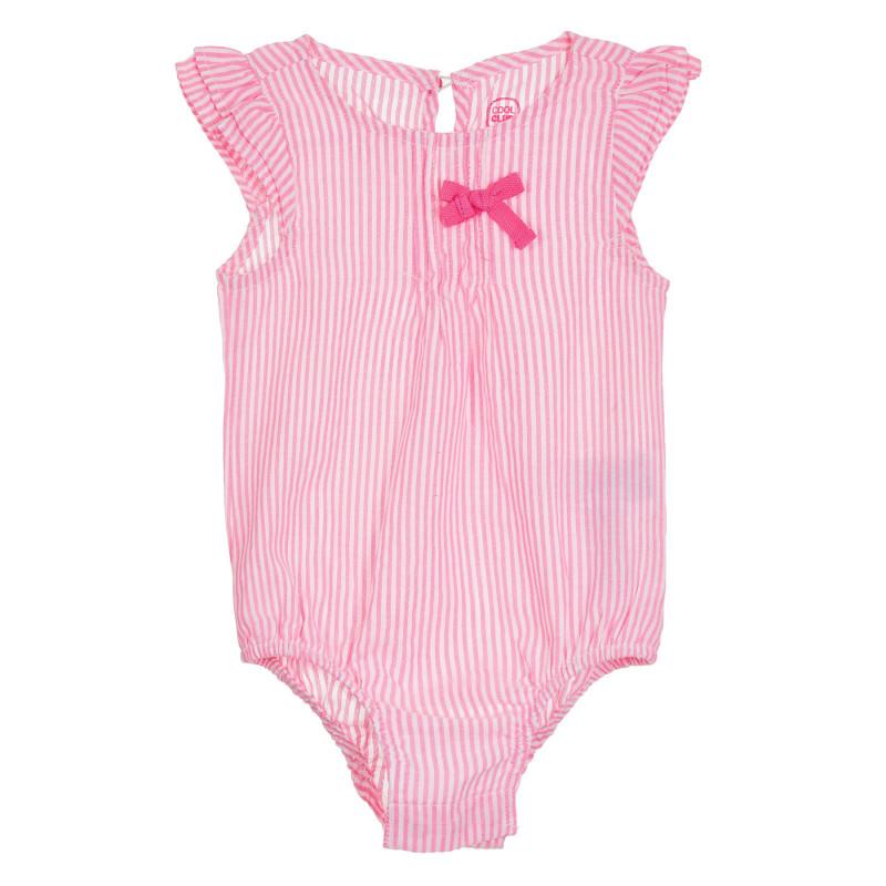 Κορμάκι με ροζ ρίγες για μωρά  270591