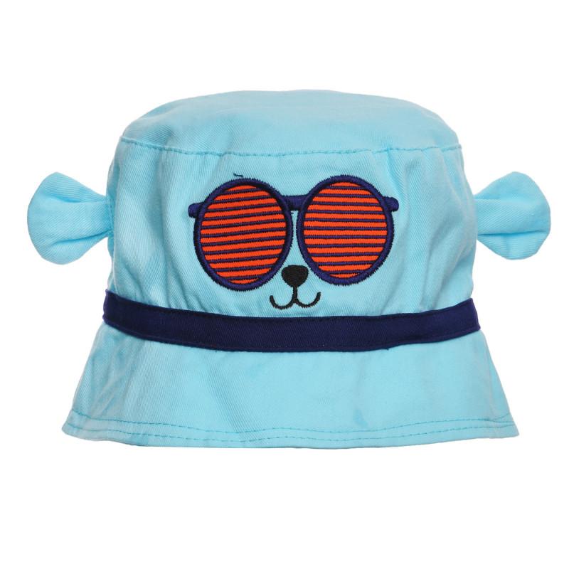 Καπέλο με τύπωμα και αυτιά μωρού, μπλε  270964