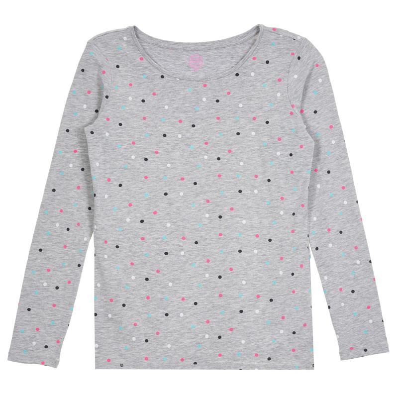 Cool Club μπλούζα με μακριά μανίκια με πολύχρωμες κουκκίδες, γκρι  271344