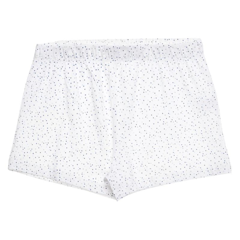 Βαμβακερό σορτς Cool Club με διάστικτη εκτύπωση, λευκό, για κορίτσια  271538