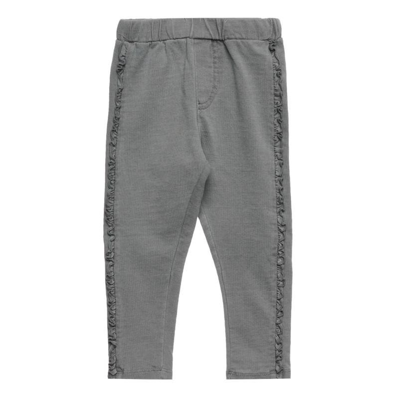 Cool club βρεφικό παντελόνι με πτυχώσεις, γκρι για κορίτσια  271814