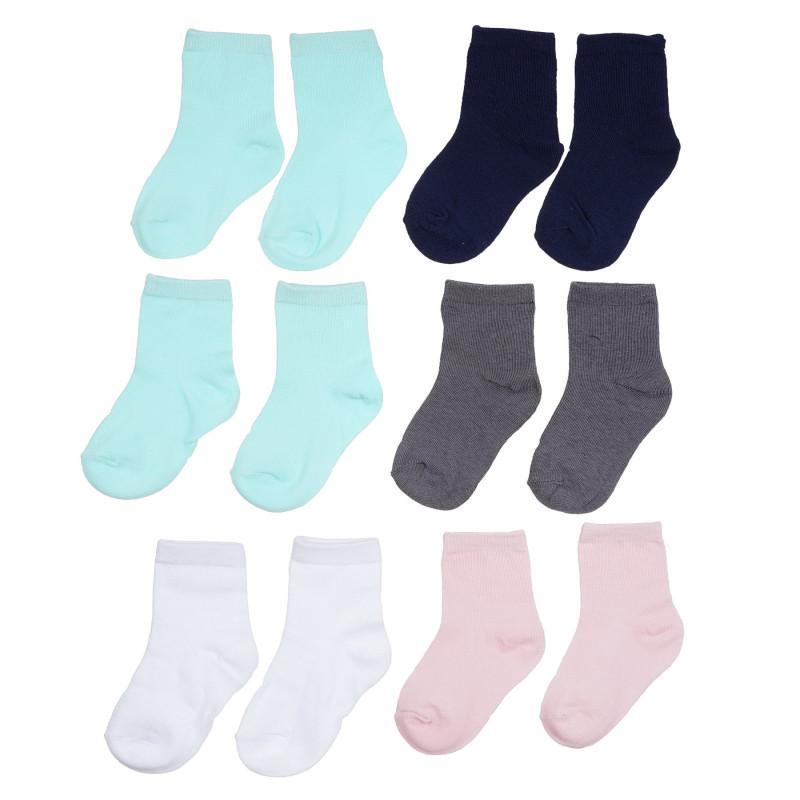 Σετ με έξι ζευγάρια βρεφικές κάλτσες σε ροζ και λευκό  272172