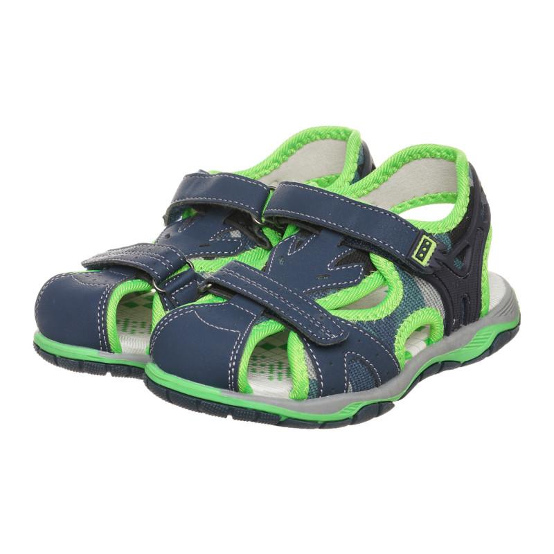 Σανδάλια με πράσινες πινελιές, μπλε  273295