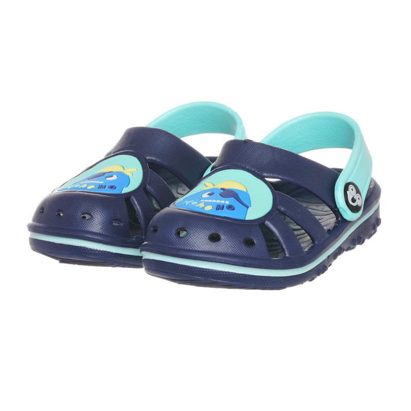 Καουτσούκ παντόφλες με απλικέ για μωρό, μπλε  273637