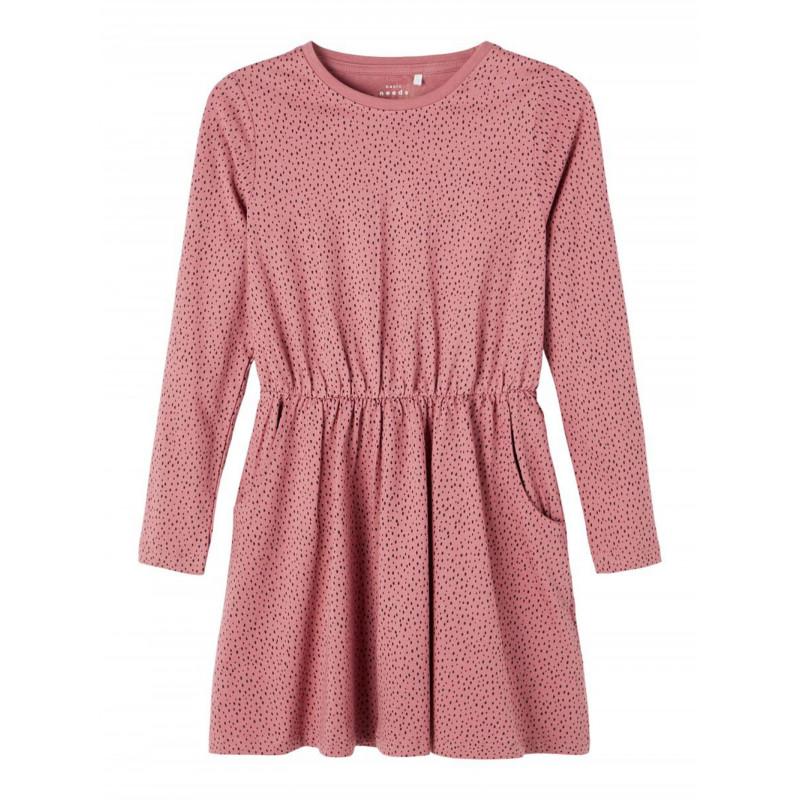 Name It οργανικό βαμβακερό φόρεμα με τελείες, ροζ  274059