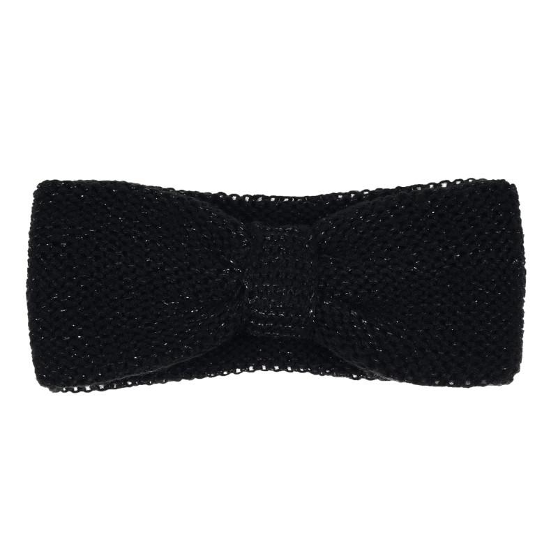 Πλεκτή κορδέλα για κορίτσια, μαύρη  276200