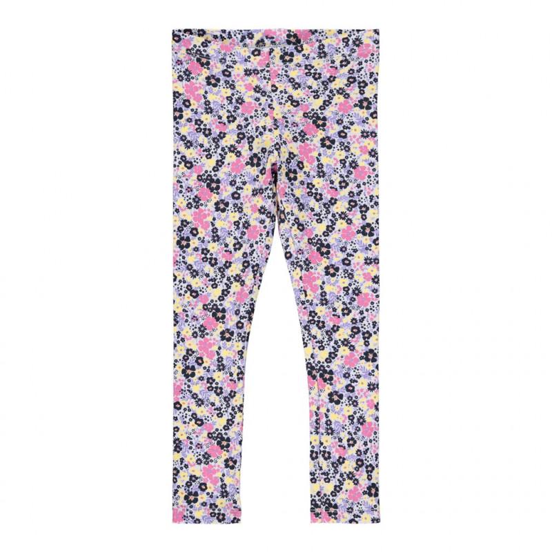 Βαμβακερό κολάν με λουλουδάτη εκτύπωση,σε  μοβ χρώμα  278600