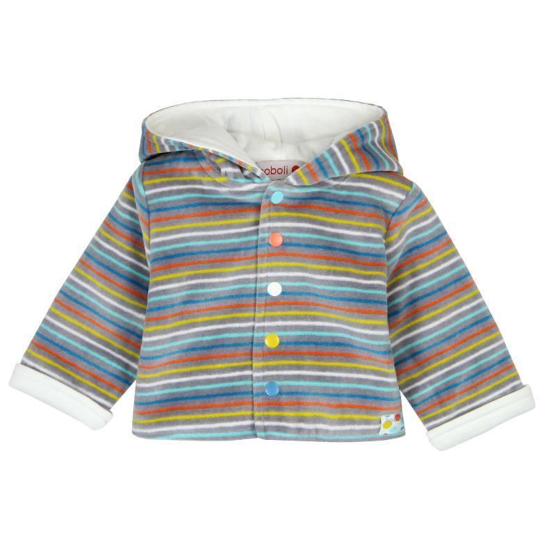Βελούδινο μπουφάν με κουκούλα για μωρά, unisex  28