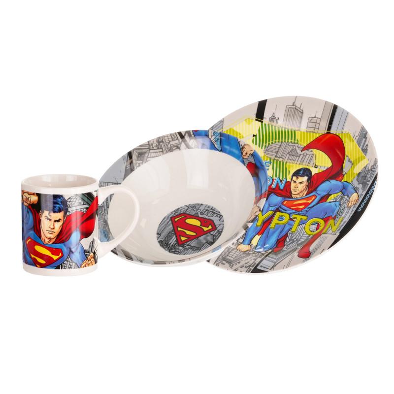 Σετ δώρου πορσελάνινα σκεύη για πρωινό, Man of Steel  281181