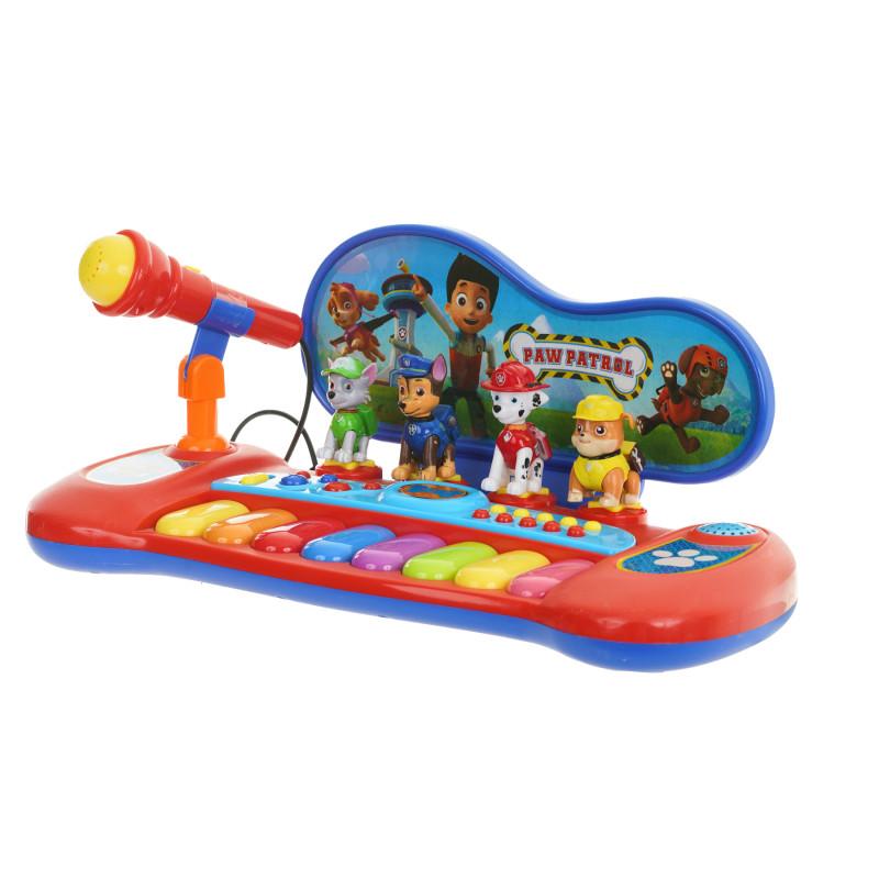 Ηλεκτρονικό πιάνο Paw Patrol με μικρόφωνο και 8 χρωματιστά πλήκτρα  281317