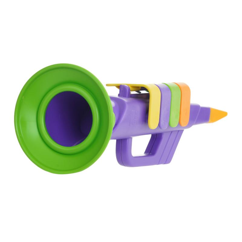 Παιδική τρομπέτα με 4 νότες, σε μοβ χρώμα  281325