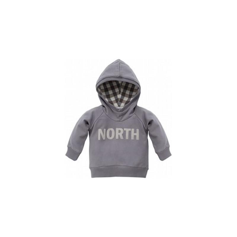 Βαμβακερή μπλούζα με κουκούλα και επιγραφή για μωρό  28238