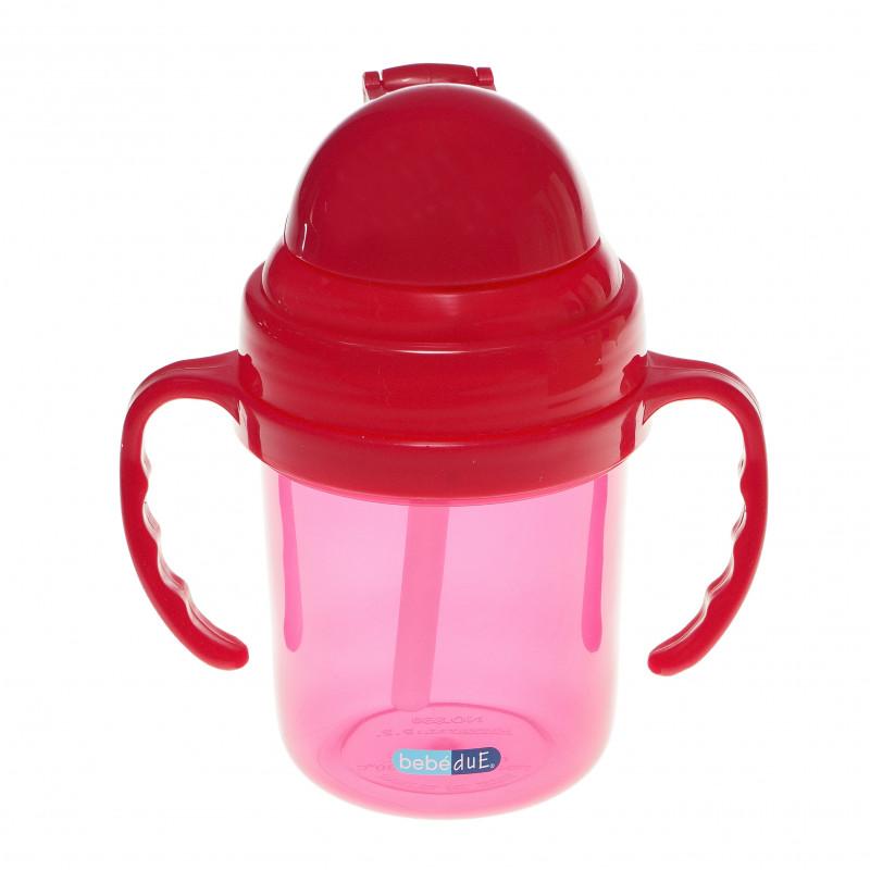 Ροζ κούπα με σε πλαστικό των 190 ml  286207