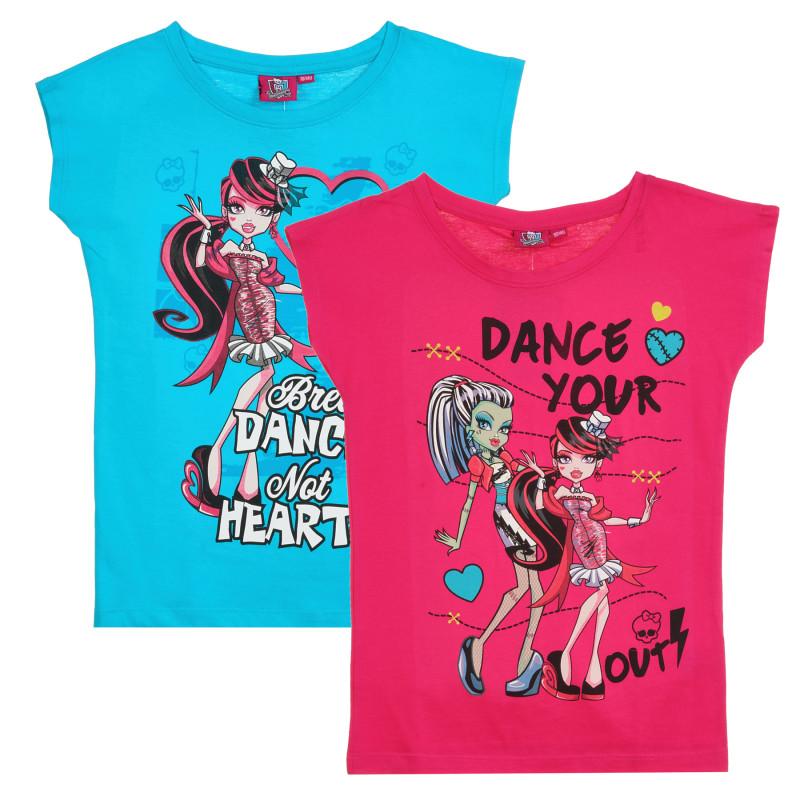 Σετ από 2 μέρη πολύχρωμα βαμβακερά μπλουζάκια  295916